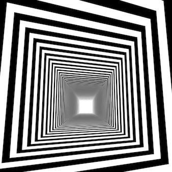 Optische illusie., 3d abstracte tunnel