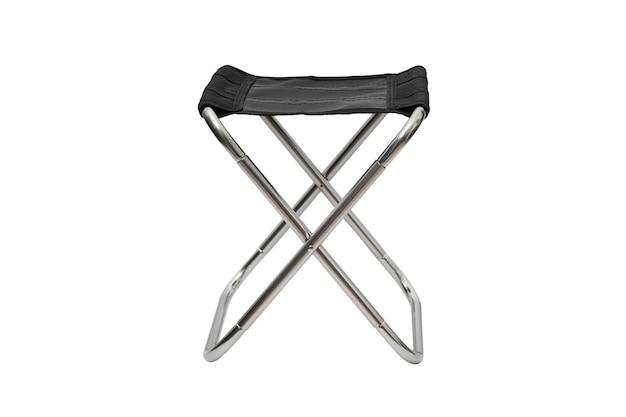 Opvouwbare campingstoel op wit wordt geïsoleerd