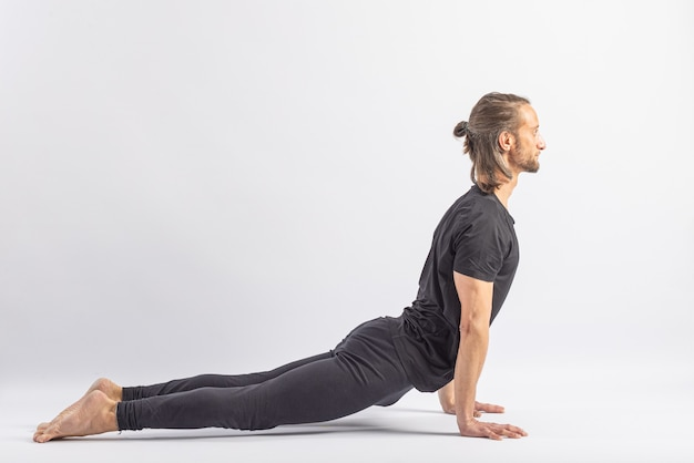 Opwaarts gerichte hond pose yoga houding asana