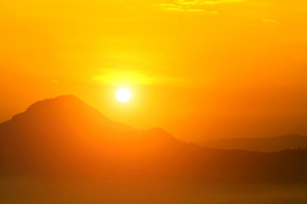 Opwarming van de zon en brandende, hittegolf hete zon, klimaatverandering