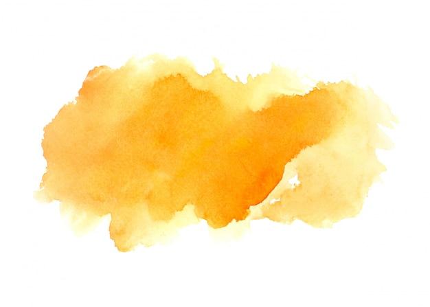 Oranje aquarel vlek tinten penseelstreek