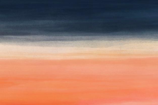 Oranje blauwe aquarel achtergrond, desktop wallpaper abstract ontwerp