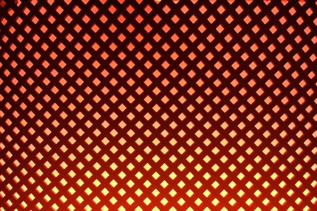 Oranje blinde muur textuur achtergrond. neon verlichting