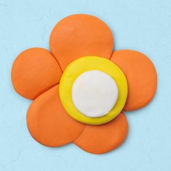 Oranje bloem klei ambacht schattig natuur handgemaakte creatieve kunst afbeelding