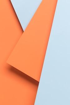 Oranje en blauwe kast