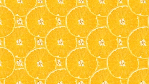 Oranje fruitpatroon. gezonde voeding achtergrond, bekijken van bovenaf