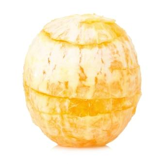 Oranje geen schil geïsoleerd op witte achtergrond
