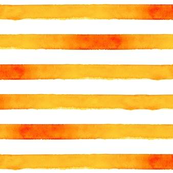 Oranje gestreepte aquarel achtergrond