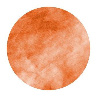 Oranje hand getekend aquarel cirkel