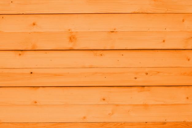 Oranje houten muur