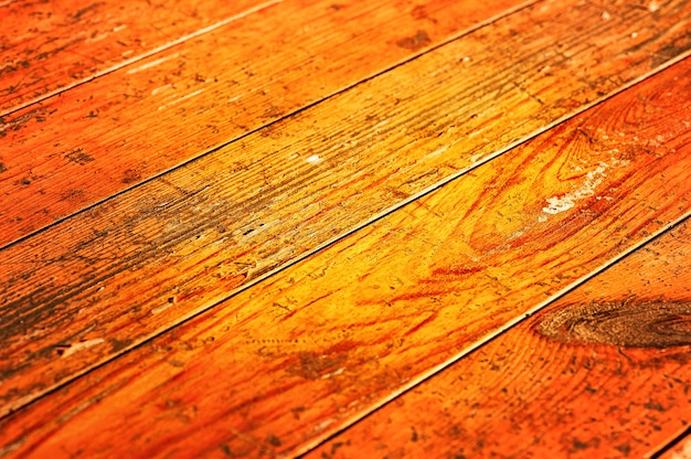 Oranje houtstructuur. warm gekleurde houten boarding textuur.