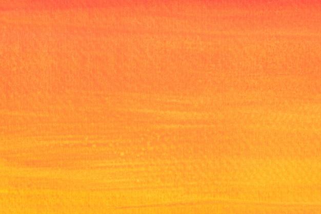 Oranje kleur kunst schilderij op papier