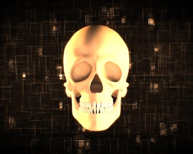 Oranje menselijke schedel
