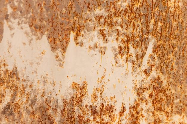 Oranje metaal roestige achtergrond, metalen grunge textuur
