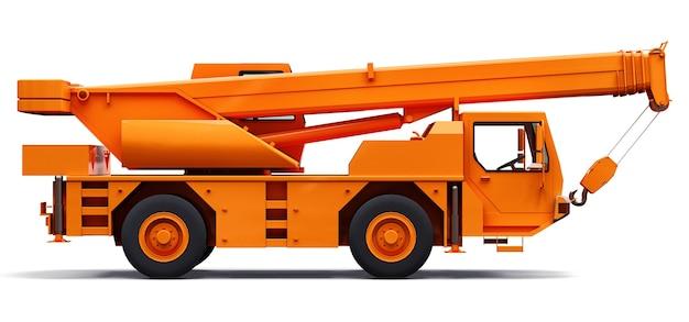 Oranje mobiele kraan