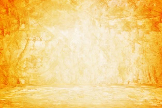 Oranje muur en showroomachtergrond voor presentatieproduct