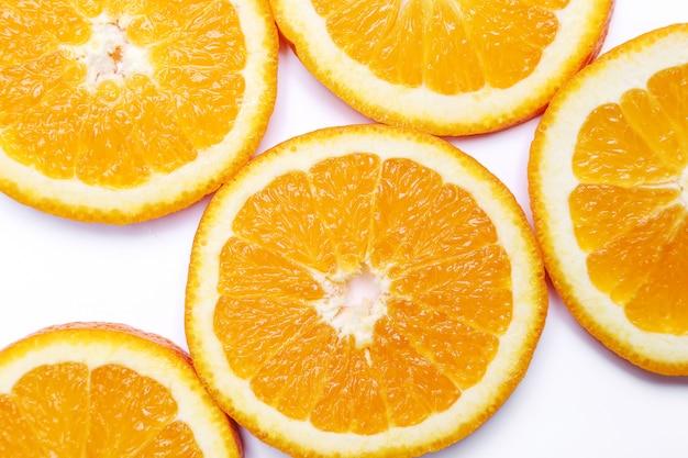 Oranje op wit