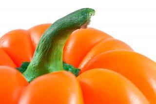 Oranje paprika close up pittig