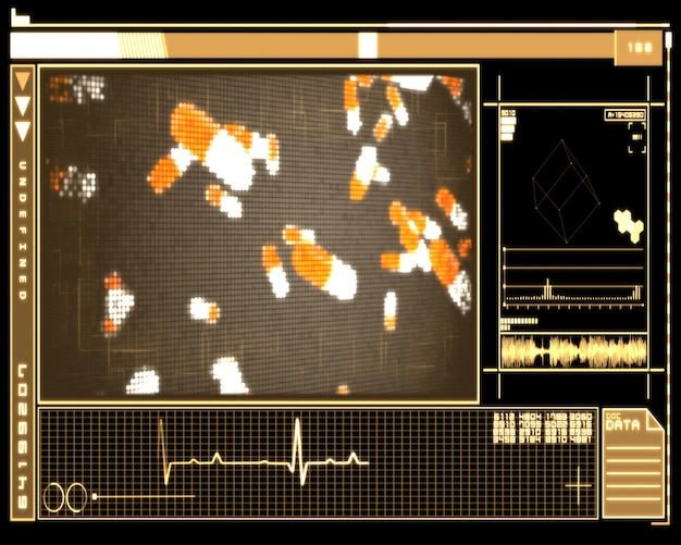 Oranje pixelpillen-technologie