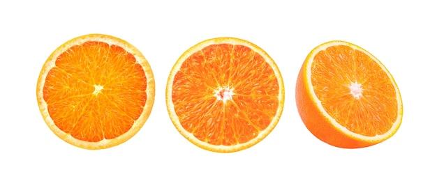 Oranje plak geïsoleerd op wit