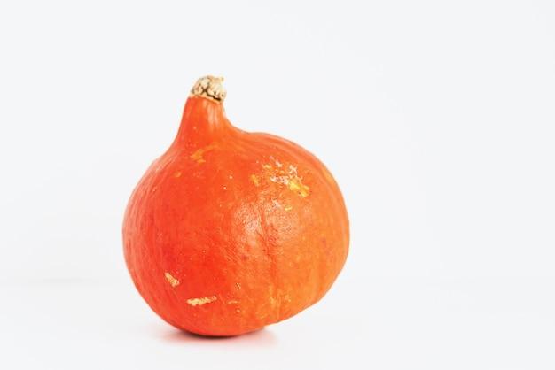 Oranje ronde pompoen geïsoleerd op wit