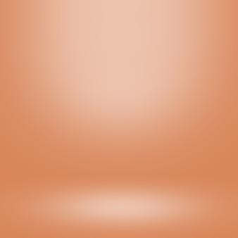Oranje verloop achtergrond en lege studio voor weergave product