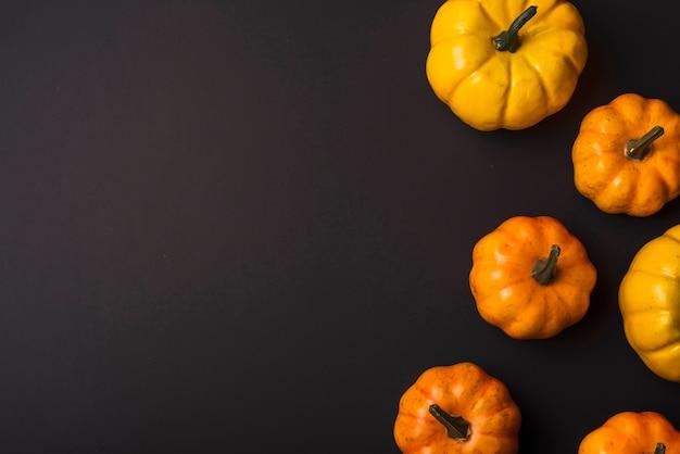 Oranje verse pompoenen