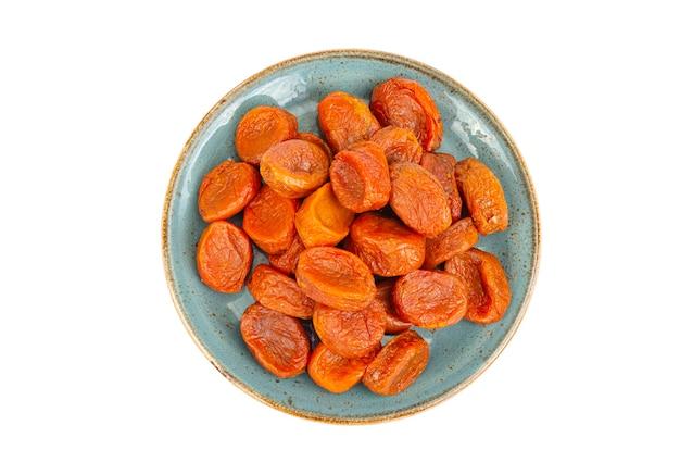 Oranje vruchten van gedroogde abrikozen details