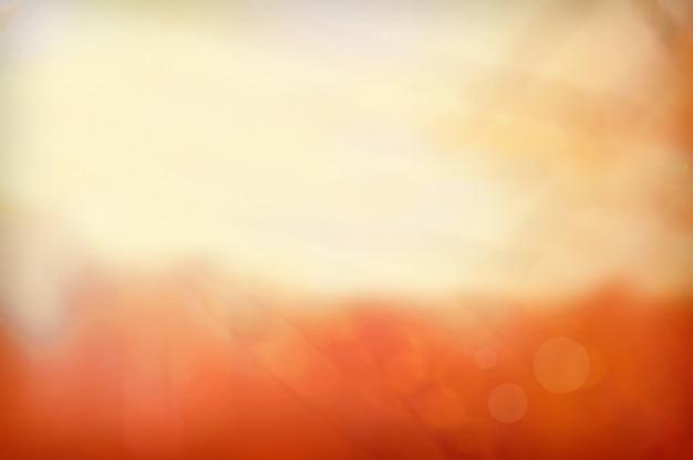 Oranje wazig scene