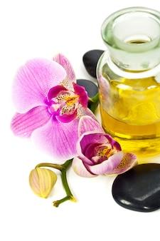 Orchidee met spa-elementen