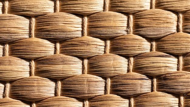 Organische achtergrond close-up gevlochten mand