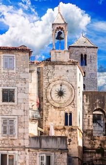 Oriëntatiepunten van de antieke romeinse stad split van kroatië in dalmatië Premium Foto