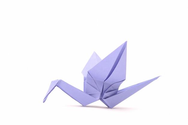 Origami vogel. kinderpapierartikelen.