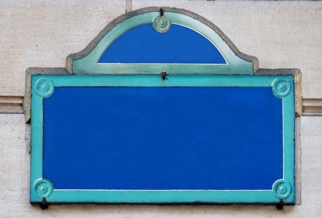 Originele plaquette straat van parijs op muur