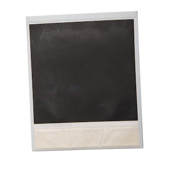 Originele polaroid op witte achtergrond