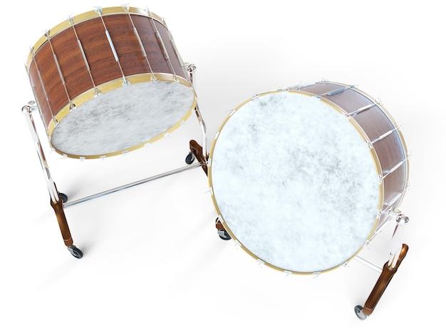 Orkest grote trommel op wit