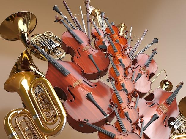 Orkest muziekinstrumenten