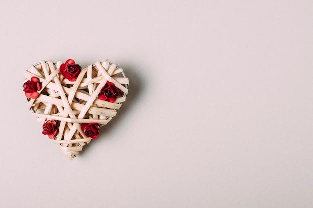 Ornament hart met bloemen