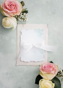 Ornamenten en bruiloft kaart