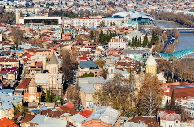Orthodoxe kerken in het oude centrum van tbilisi, georgië