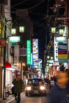 Osaka, japan - 30 november 2015: dotonbori entertainment distri