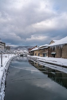 Otaru-kanaal in de winter