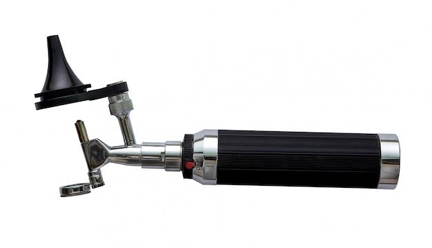 Otoscoop voor kno-arts onderzoek oor horizontale weergave