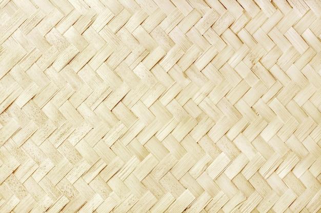 Oud bamboe wevend ontwerp, de geweven textuur van de rotanmat voor achtergrond