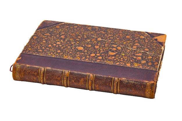 Oud boek geïsoleerd