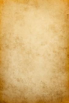 Oud bruin papier textuur, vintage retro blanco pagina met grunge plekken voor ontwerp en tekst