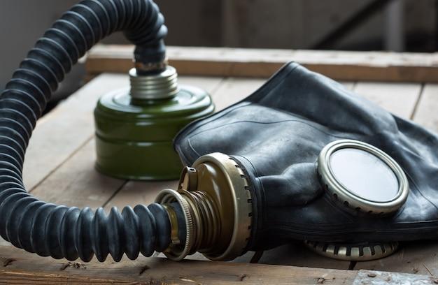 Oud gasmasker