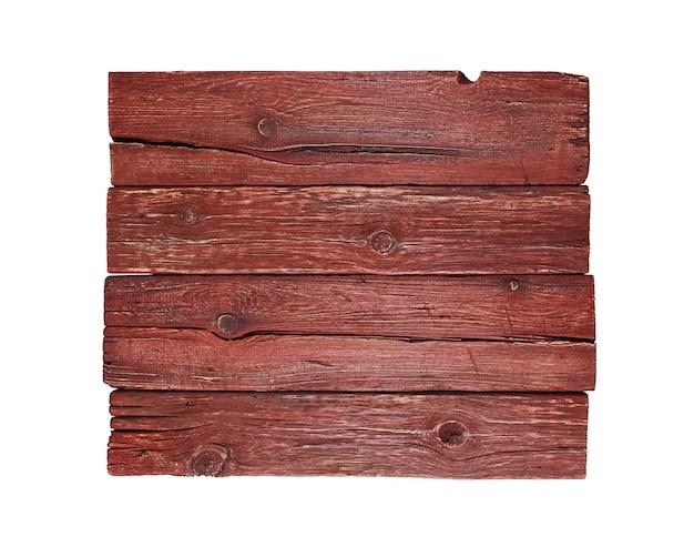 Oud, gebarsten houten oppervlak, geïsoleerd op wit