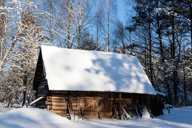 Oud houten gebouw