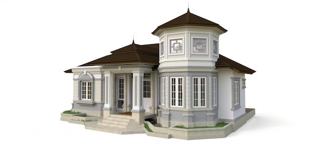 Oud huis in victoriaanse stijl